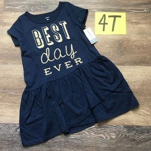 🛍NWT Carter's Girls 4T Cotton Ruffle Bottom Dress